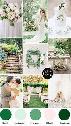 nature garden wedding theme shades of green blush