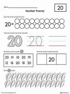 number 20 practice worksheet writing numbers kindergarten math worksheets numbers preschool
