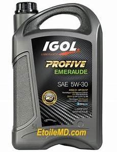 Huile Moteurs Igol Profive Emeraude 5w 30 Low Saps 5