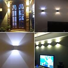 aluminum 2w modern led wall light up down sconce lighting bedroom l sale banggood com