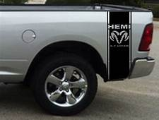 2 Hemi 57 Liter Ram Stripe Dodge Truck Vinyl Decal