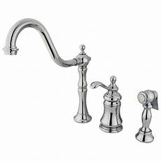 kingston brass kitchen faucet kingston brass templeton single handle widespread kitchen faucet with brass spray reviews