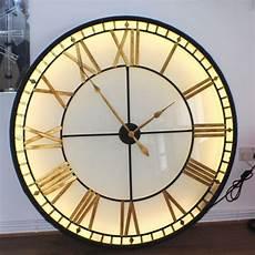 extra large big illuminated light big skeleton vintage clock uk wall clock light big wall