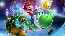 mario galaxy 2 hd wallpaper background image