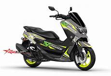 Nmax Modif Stiker by Modif Striping Yamaha Nmax Gun Metal Movistar