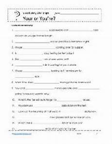 your or you re worksheets