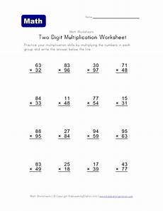 6two digit multiplicationworksheet