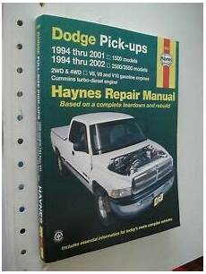 auto repair manual online 1994 dodge ram 1500 electronic toll collection 1994 2001 dodge 1500 truck service manual haynes shop book ram 1994 2002 2500 ebay