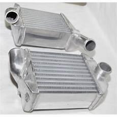 front side bi turbo intercooler for 00 02 audi s4 base sedan 4d 2 7l b5 c5