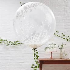ballons mit konfetti ballons mit konfetti wei 223 3 st weddix de