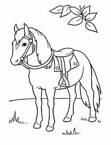 ausmalbilder pferde bild pferd mit sattel