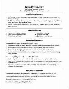 resume objectives for a phlebotomist sle phlebotomist resume things i must have