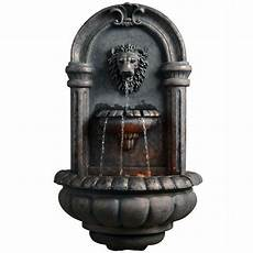 peaktop outdoor royal lion head wallfall with led light tdc 201605pt the home depot