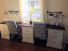 diy home office furniture diy office desk do with black cabinets and wood top