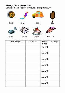 managing money worksheets uk 2807 money change from 2 pounds uk worksheet for 4th 5th grade lesson planet