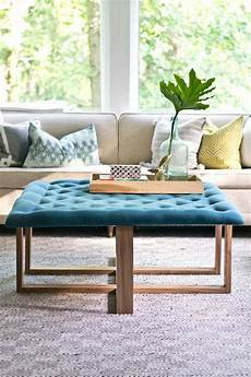 how should a coffee table be how to build a tufted ottoman coffee table ehow