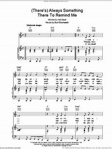 david there s always something there to remind me sheet music for voice piano or guitar