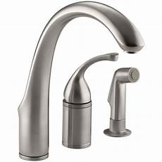 kitchen faucets single kohler forte single handle standard kitchen faucet with side sprayer in vibrant stainless k