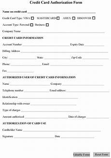 credit card authorization form template peerpex