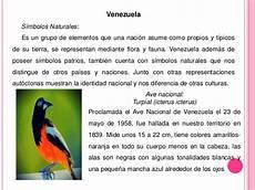que representan los simbolos naturales de venezuela construccion de la identidad venezolana
