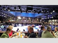 The show is covered with tables all around.   Picture of