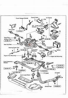2012 toyota camry engine diagram i a 94 camry with a manual transmission there is leaks the car but the engine