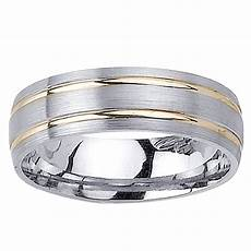14k two tone gold men s double groove wedding band 13841853 overstock com shopping big