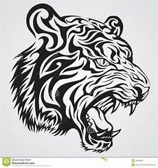 fronte della tigre illustrazione vettoriale illustrazione