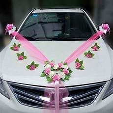 wedding car decoration sets artificial flower diy garlands