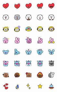 Universtar Bt21 Must Emoji Seni Doodle Gambar