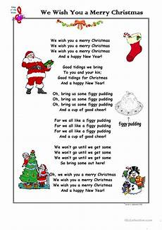 song we wish you a merry worksheet