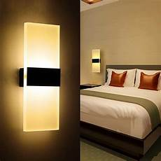 2019 modern acrylic 6w led wall l aluminum lights fixture on off decorative sconce night