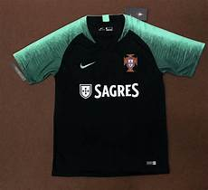 2018 portugal t shirt black stripe team soccer