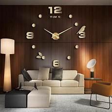 designer wanduhr wohnzimmer wandtattoo design vogel deko