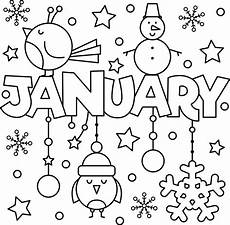 Neujahr Malvorlagen Januarie Happy New Year January Colouring Page Coloring Pages