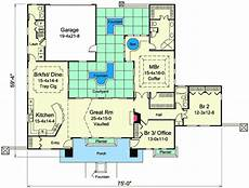mediterranean house plans with courtyards mediterranean home plan with central courtyard 57268ha