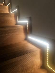 eclairage d un escalier avec ruban led in 2019 house