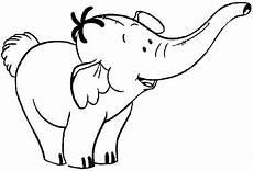 free animals elephant printable colouring for preschool