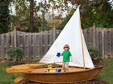 sandkasten selber bauen how to make a rowboat sandbox hgtv