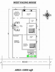 30 x60 marvelous 2bhk west facing house plan as per vastu