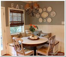 Decorating Ideas For Eat In Kitchen by A Walk In The Countryside Updated Breakfast Banquette Area