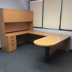 Maple Office Furniture by Used Lacasse Desks Orlando Used Maple U Shape Desk