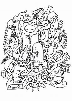 doodle rocking coloring page best draws