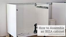 ikea cabinet assembly instructions how to assemble an ikea sektion base cabinet youtube