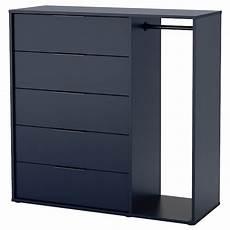 kommode mit kleiderstange nordmela kommode mit kleiderstange schwarzblau ikea