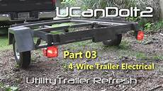 utility trailer 03 4 trailer wiring and diagram youtube