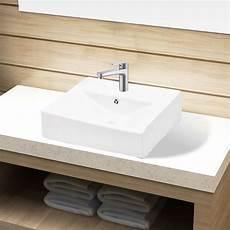 lavandino bagno rettangolare lavandino bagno in ceramica rettangolare con foro