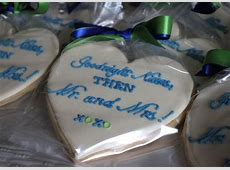 Heart Shaped Cookies for a Rehearsal Dinner