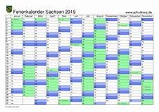 Sachsen Sommerferien 2019 - schulferien kalender sachsen 2019 mit feiertagen und