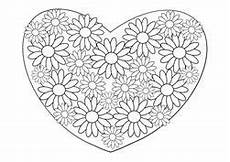 Ausmalbild Blumen Herz Ausmalbilder Zum Muttertag Muttertag Basteln Muttertag